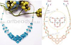 Scheme weave Crystal Necklace