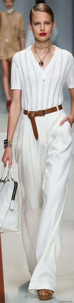 Trussardi Spring 2015 RTW  women fashion outfit clothing stylish apparel @roressclothes closet ideas