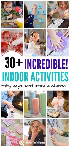 Indoor Activities for Kids: Rainy Days Don't Stand a Chance. Activities To Do With Toddlers, Activities For 1 Year Olds, Indoor Activities For Toddlers, Rainy Day Activities, Preschool Activities, Things To Do Inside, Sensory Bins, Gross Motor, Business For Kids
