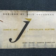 milo baughman for james sofa High Point North Carolina, Kennett Square, Milo Baughman, State Street, Annie, Mid-century Modern, Mid Century, Sofa, Logos