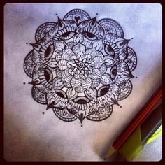 Esta tarde me inspiré! Futuro tatoo #mandala #tatoo #original