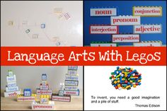 Legos can play a HUGE part in your homeschool curriculum, especially your language arts curriculum. We came up with so many creative and fun ways to use Legos to teach language arts that I have to break this post into two! Here is part two!