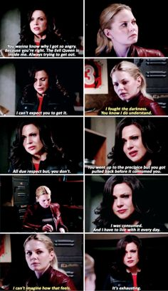 """""""The Evil Queen is inside me. Always trying to get out"""" - Regina and Emma #OnceUponATime"""