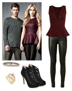 """Rebekah Mikaelson - The Originals / tvd / The Vampire Diaries"" by shadyannon ❤ liked on Polyvore featuring moda, Pinky, Hanna Wallmark, Yves Saint Laurent e WearAll"