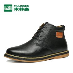 69.80$  Buy now - http://alixhk.worldwells.pw/go.php?t=32751353247 - Mulinsen Autumn&Winter Men Sports Hiking Shoes Black/Blue/Brown Sport Shoes Genuine Leather Wear Non-slip Outdoor Sneaker 260105