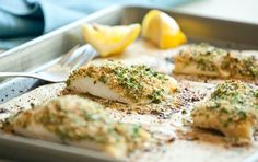 Baked Breaded Cod - Recipes - Whole Foods Market Cooking East Cobb (Baking Cod Cooking) Best Fish Recipes, Cod Recipes, Whole Food Recipes, Cooking Recipes, Favorite Recipes, Noodle Recipes, Fish Dishes, Seafood Dishes, Fish And Seafood