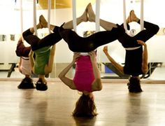 AUG 18, 2011  AntiGravity Yoga – Weightless Aerial Yoga In Vancouver   - I want to try this