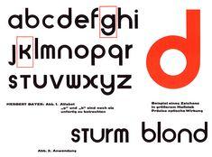 Sample of the Universal alphabet by Herbert Bayer, Bauhaus teacher and graphic designer described as the Bauhaus style. Herbert Bayer, Bauhaus Typography, Typography Letters, Graphic Design Typography, Typography Online, Modern Typography, Lettering Design, Josef Albers, Bauhaus Style
