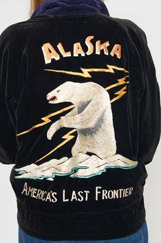 1950s Alaska Souvenir Jacket Embroidered Japan Sukajan Jacket
