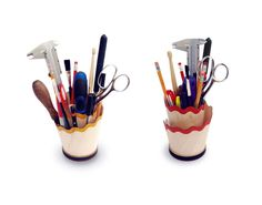 Pencil Shaving Desk Tidy by CliveRoddy on Etsy