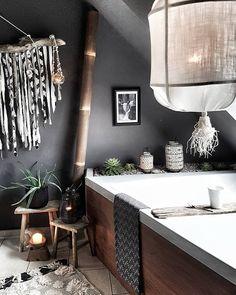 Pink Bathroom: Designs & Decoration Photos - Home Fashion Trend Bathroom Niche, Boho Bathroom, Bathroom Wallpaper, Grey Bathrooms, Diy Bathroom Decor, Beautiful Bathrooms, Unusual Bathrooms, Diy Interior, Interior Design