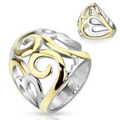 STR-0048 Stainless Steel Two Tone IP Smoke Swirl Hearts Frontal Ring; Comes With Free Gift Box (8) Jinique http://www.amazon.com/dp/B00DBC1GHU/ref=cm_sw_r_pi_dp_mlsXtb0MNXY33NVA