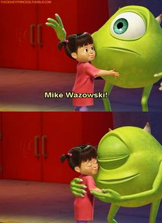 Mike Wazowski and Boo