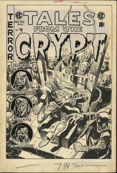 Tales from the Crypt. No. 44. EC Comics. 1954. Original artwork by Jack Davis.