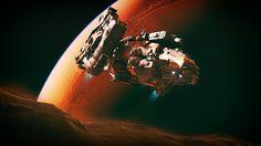 Научная фантастика космический корабль  Космос Научная фантастика Обои