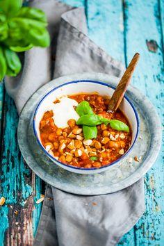 vegetarisk marockansk gryta med kikärtor