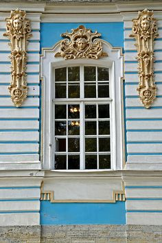Window, Catherine Palace, Tsarskoye Selo, Russia