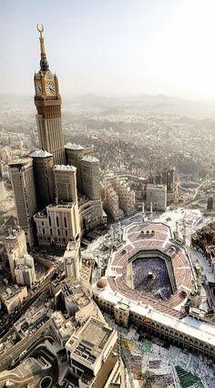 Masjid al-Haraam @ Makkah al-Mukarramah Mecca Madinah, Mecca Masjid, Masjid Al Haram, Islamic Images, Islamic Pictures, Islamic Art, Mecca Wallpaper, Islamic Wallpaper, Mosque Architecture