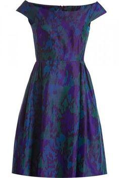Valentino R.E.D. Purple/Green Flower Print Dress