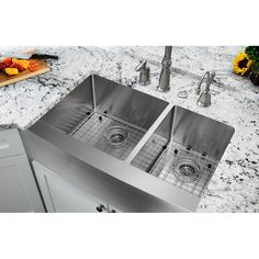 """You'll love the Farmhouse 36"""" x 21.25"""" Undermount Double Bowl Kitchen Sink at Wayfair - Great Deals on all Home Improvement  products with Free Shipping on most stuff, even the big stuff."""