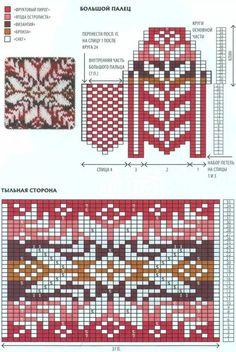 Вяжем скандинавские узоры – 37 фотографий   ВКонтакте Mittens Pattern, Knit Mittens, Knitting Socks, Knitting Charts, Knitting Patterns, Fair Isle Pattern, Bead Loom Patterns, Fair Isle Knitting, Loom Beading