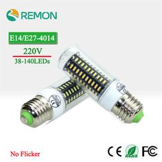 E27 E14 LED Corn Light No Flicker/Strobe LED 4014 SMD LEDE White/Warn White Bulbs 220V 38LEDs 55LEDs 78LEDs 88LEDs 140LEDs  EUR 1.28  Meer informatie  http://ift.tt/2gJjdnZ #aliexpress