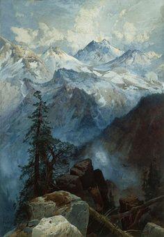 ckck:  Summit of the Sierras by Thomas Moran, 1875.
