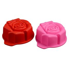 (This is an affiliate pin) Silicone Cupcake Moulds Reusable Baking Cups Nonstick Bakeware Muffin Bread Cake Molds Chocolate Mold 10Pcs (Random Color Select), qixian, Red, 15.5 12.7 5cm,