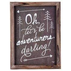 Brown & White Let's Be Adventurers Framed Wall Art - Living Room Wall