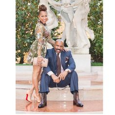 Talk Show Host Steve Harvey Beautifully Surprised His Wife Marjorie Harvey On Her Birthday - Wedding Digest Naija Black Celebrity Couples, Black Couples, Couples In Love, Power Couples, The Lady Loves Couture, Love Couture, Black Love, Black Is Beautiful, Simply Beautiful