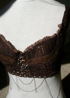 Beautifully Whimsical Custom Bellydance Bras by QSunFusion on Etsy, $85.00