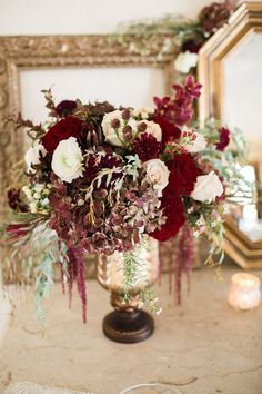 Romantic Marsala New York Wedding Inspiration at the Rushmore Estate - MODwedding