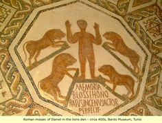 """""""Daniel"""", Late-Roman mosaic, 5th century CE. Bardo Museum, Tunis"""