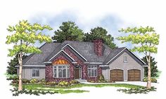 European House Plan with 1898 Square Feet and 3 Bedrooms from Dream Home Source | House Plan Code DHSW40312