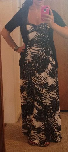 maxi dress + cardigan