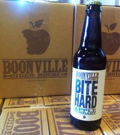 Two hard ciders from Mendocino, CA ... Boonville Cider House Bite Hard Cider and Bates and Schmitt