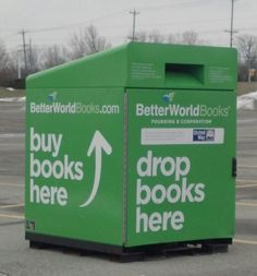 Now this is a fabulous idea. Donating used books while helping a fabulous charity - the United Way. I need to check out this BetterWorldBooks.com