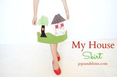 DIY Clothes DIY Refashion DIY mama says sew My House Skirt with Angelina from Jojo and Eloise