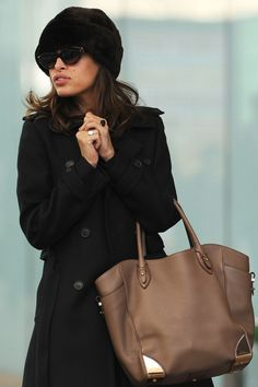 Eva Mendes - Salvatore Ferragamo  Leather Tote Bag
