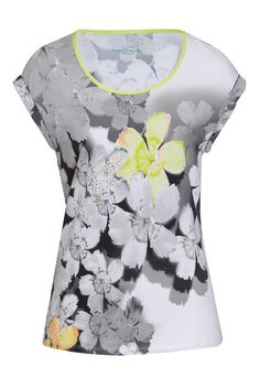 cotton/elastane floral crystal detail T-Shirt