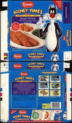 Tyson - Looney Tunes Meal - Sylvester Fish Sticks - tv dinner box - 1990 by JasonLiebig, via Flickr
