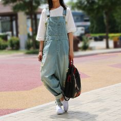 Cheap jeans jumpsuit, Buy Quality jumpsuit plus directly from China overall jumpsuit Suppliers: Casual Loose Plus Size Denim Overalls Women Ripped Jean Jumpsuit Boyfriend Wide Leg Jeans Harem Pants Trousers