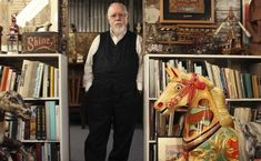 Peter Blake in his studio. Time Out magazine. Peter Blake Artist, Beatles Albums, Pop Art Movement, Lonely Heart, Concert Posters, Sleeve Designs, British Artists, Studios, Carnival