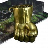 Marvel The Avengers The Incredible Hulk 3D Fist Pewter Metal Key Ring Chain Metallics