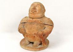 Pot à Tabac Sculpture Terre Cuite Maréchal Mac Mahon Jousseaume XIXè, Luc de Laval Antiquités à Vannes, Proantic