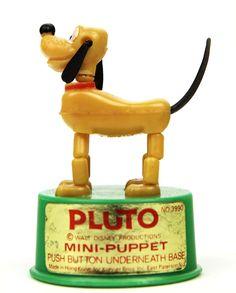 Mini Disney Pluto Kohner Push Toy and