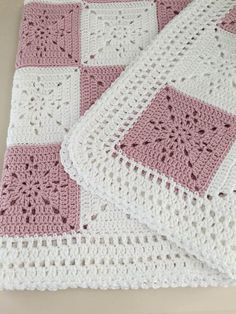 Crochet Baby Blanket or Throw Pattern - Arielles Square  .•*¨*•.¸♥¸.•*¨*•.¸♥¸.•*¨*•.¸♥¸.•*¨*•.¸♥¸.•*¨*•.¸♥¸.•*¨*•.¸♥¸.•*¨*•.¸♥¸.•*¨*•.¸♥¸.•*¨*•.¸  This pattern was designed for my niece as a wedding gift. I wanted a timeless yet simple square that could be used for a throw, a baby blanket, or even as a table runner. It came out quite elegant. This will be your go to pattern for a wedding gift or baby shower. The square is VERY easy, especially since it is one color, so you have very few ends…