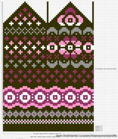 Krāsaini cimdu raksti - Rokdarbu grāmatas un dažādas shēmas - draugiem. Knitting Charts, Knitting Stitches, Knitting Designs, Knitting Projects, Knitting Patterns, Knitted Mittens Pattern, Knit Mittens, Knitted Gloves, Knitting Socks