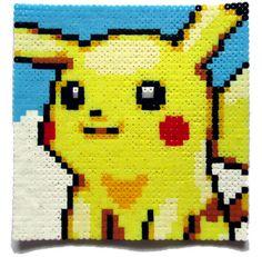 Pokemon Pikachu portrait de Microsoft perler bead par AenysBeadArt