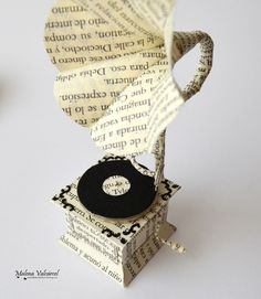 Miniature Book Paper Gramophone on Behance